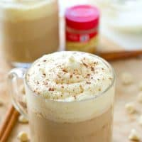 White chocolate and pumpkin spice are a match made in coffee heaven with these simple hot mochas that call for a handful of ingredients and are ready for sipping in less than 10 minutes!