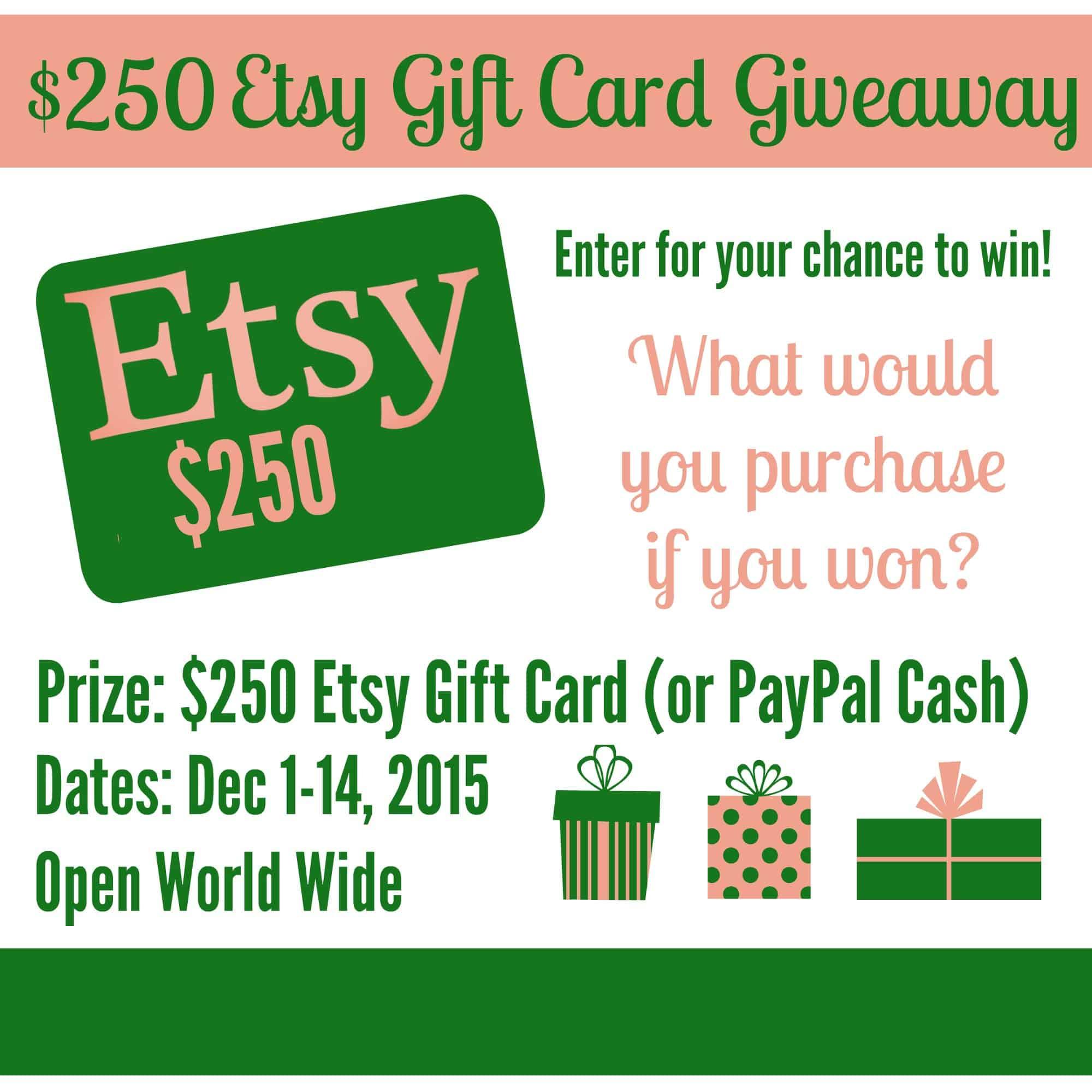 Etsy Giveaway participants