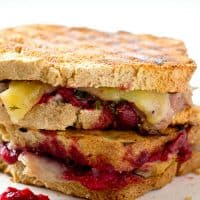 Use up those Thanksgiving leftovers the easy way with this ultimate leftover turkey cranberry mozzarella panini sandwich.---Lunch is served!
