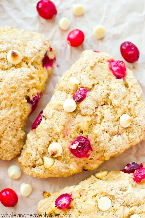 Love the cranberry bliss bars from Starbucks? You'll love them even more in scone form!