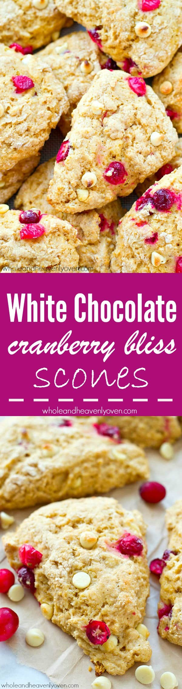 Love the cranberry bliss bars from Starbucks? You'll love them even more in scone form! @WholeHeavenly