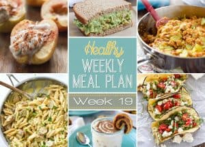 Plan out a week of healthy meals the easy way from breakfast all the way to midnight snacks! Recipes featured from all your favorite healthy food bloggers!