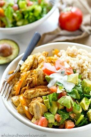 Instant Pot Chicken Burrito Bowl Healthy