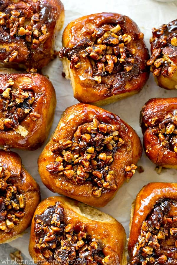 Classic sticky buns covered in an irresistible caramel-y pecan topping make the absolute best weekend breakfast ever! You won't believe how good these are.