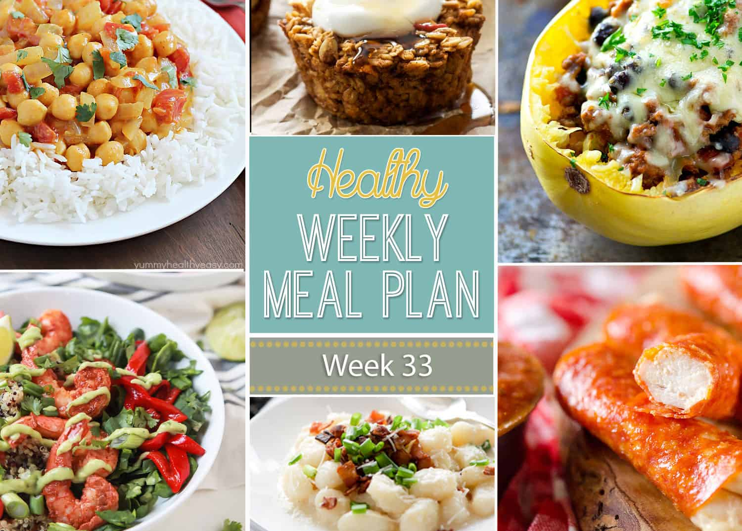 Healthy Weekly Meal Plan Week 33