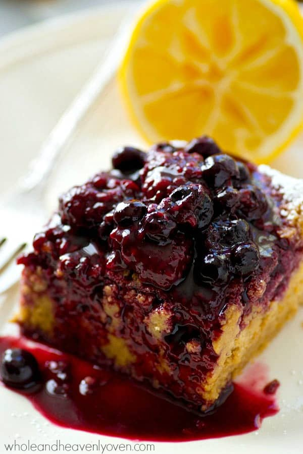 Lusciously silky and moist inside and loaded with tons of citrus flavors, these magic cake bars are going to completely blow you away.---Don't forget the warm berry sauce on top!