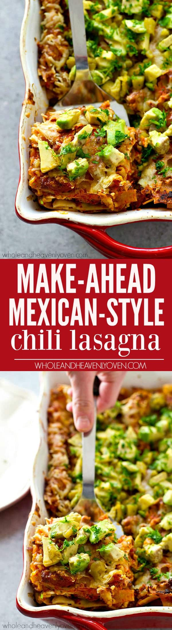 Super-easy make-ahead lasagna with a Mexican twist! Meet your new favorite lasagna in the world.