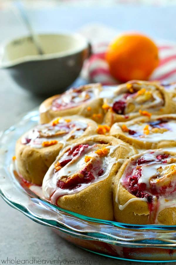 One bite of these soft-as-clouds citrus-y cinnamon rolls, and you will be officially obsessed! The tangy raspberry swirl filling is absolutely insane and perfect for spring brunching.
