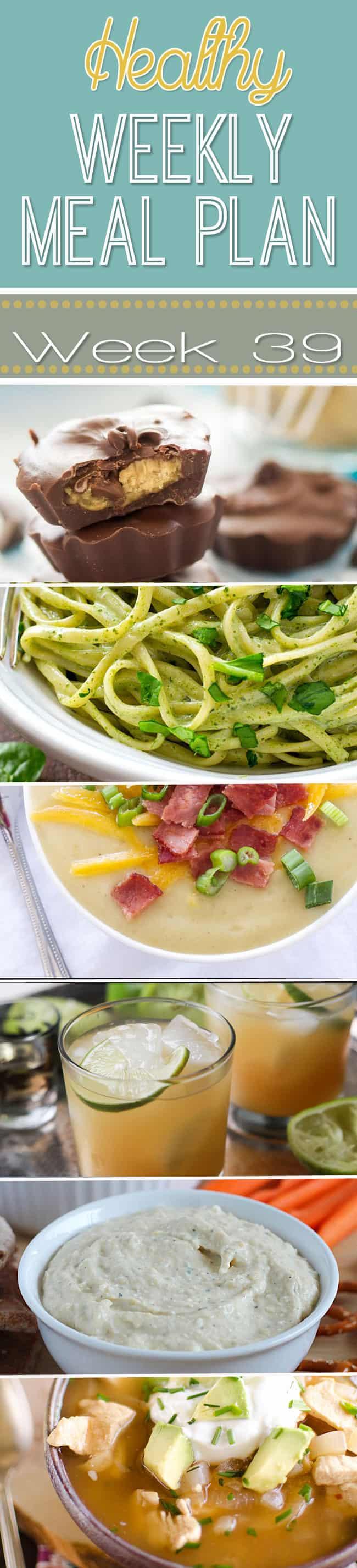 Healthy Weekly Meal Plan Week 39