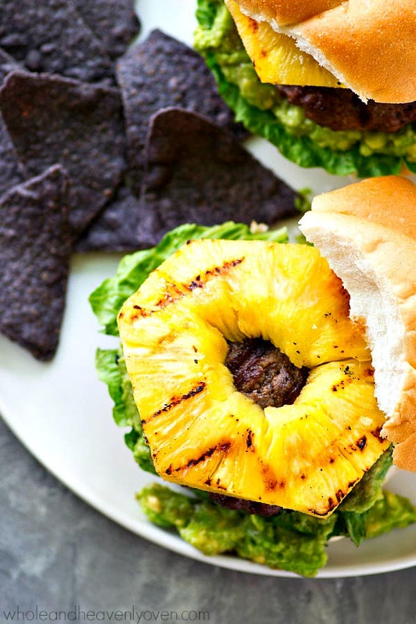 Sweet 'n' spicy jerk-flavored hamburgers are a match made in burger heaven with smashed avocado and tangy sweet grilled pineapple. This is one burger you don't want to miss out on.