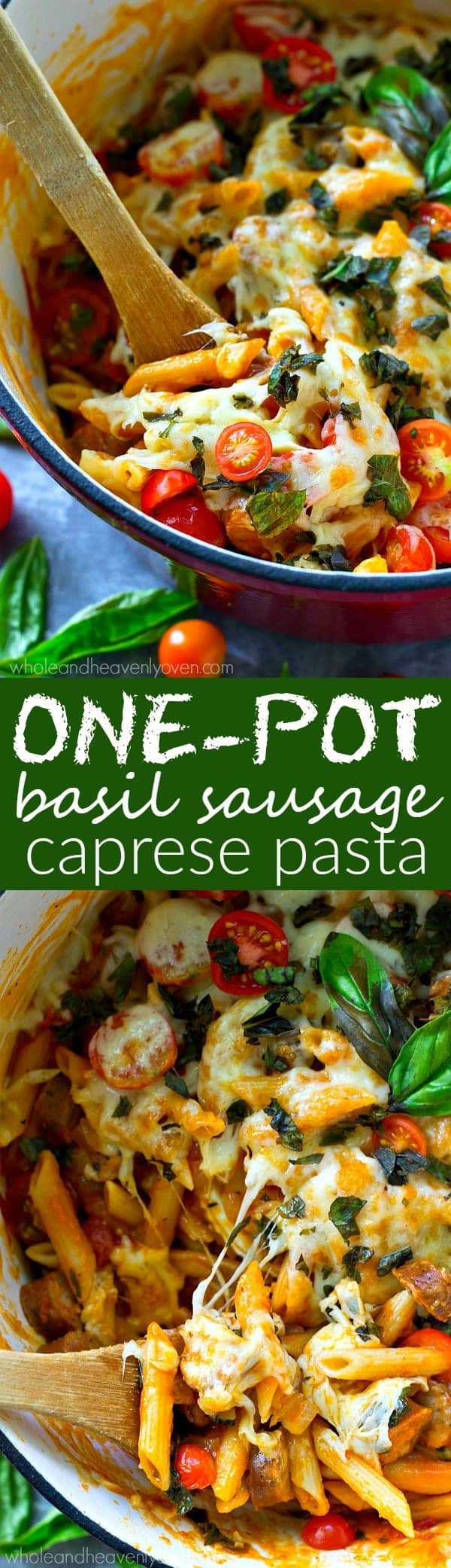 One pot, thirty minutes, and only a handful of ingredients is all you're going to need to make this cozy caprese pasta! --- An entire meal-in-one for those weeknights when you don't feel like cooking!