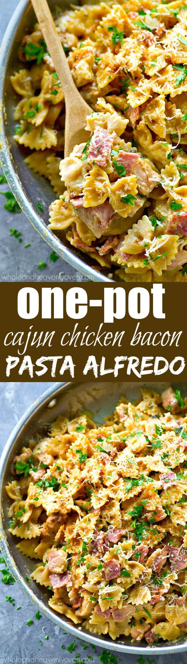 Ready for the ultimate one-pot dinner? This Cajun chicken pasta alfredo is unbelievably simple to throw together and absolutely the best kind of comfort food.--- It's on the dinner table in only 30!