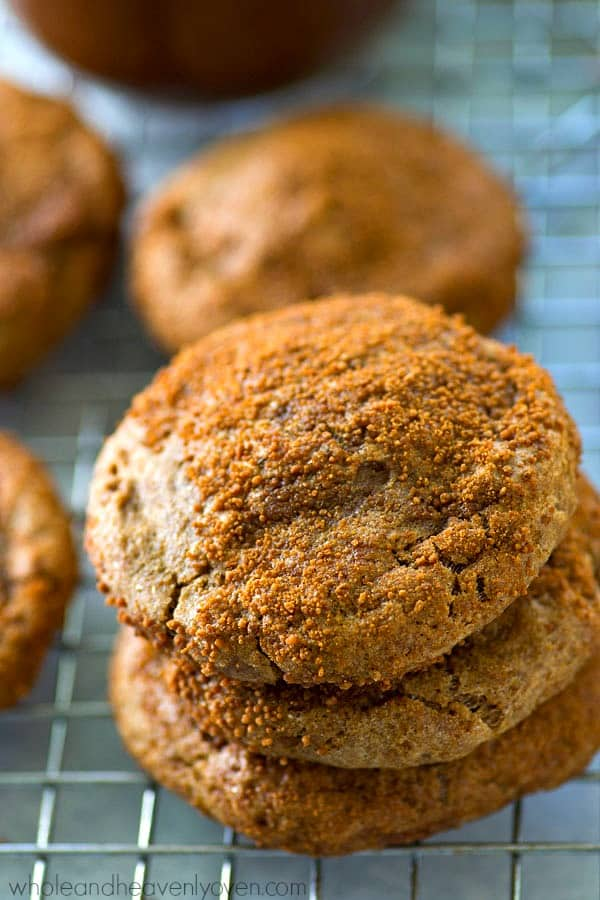 Insanely chewy, packed with apple flavors, and covered in tons of cinnamon sugar, these fall-style snickerdoodle cookies are going to blow your MIND they're so good! They're so easy to make, you'll find them in your cookie jar all the time.