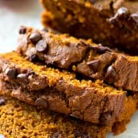 Pumpkin bread and banana bread collide with tons of gooey chocolate into one killer loaf that you're not gonna be able to get enough of this fall!