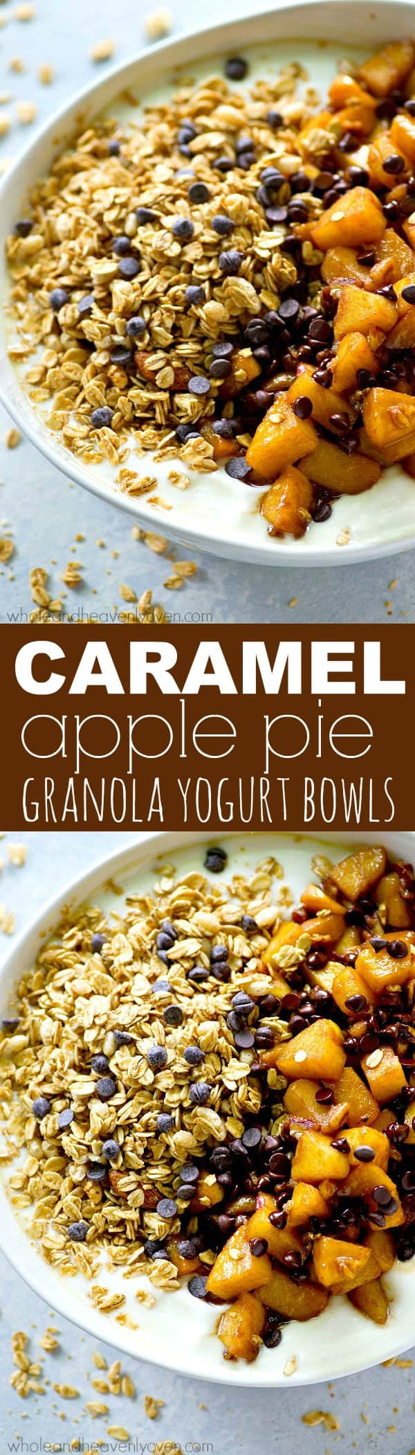These loaded granola yogurt bowls are the easiest and most energy-boosting way to start a fall morning! Just throw everything in one bowl and you've got breakfast done.