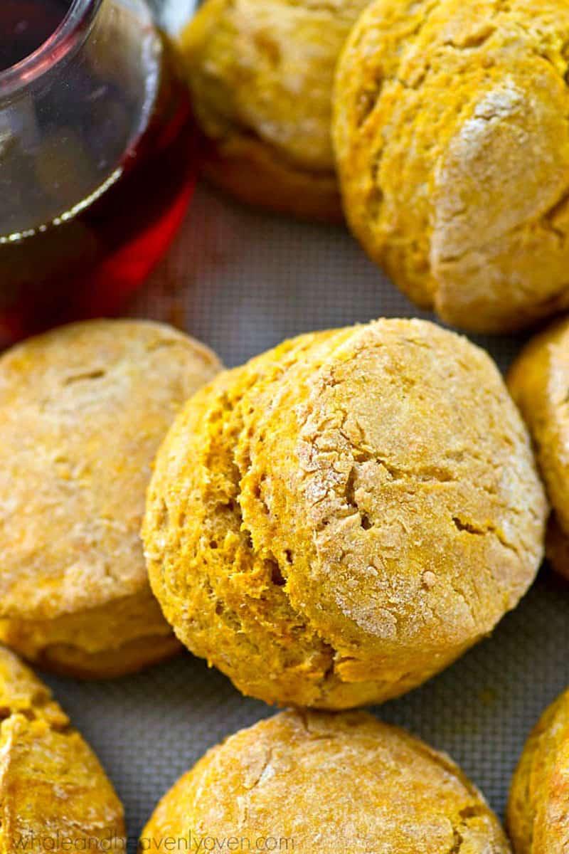 Maple Pumpkin Spice Biscuits