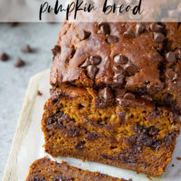 Pumpkin bread and banana bread collide with plenty of chocolate in this banana chocolate chip pumpkin that's sure to become a fall favorite!