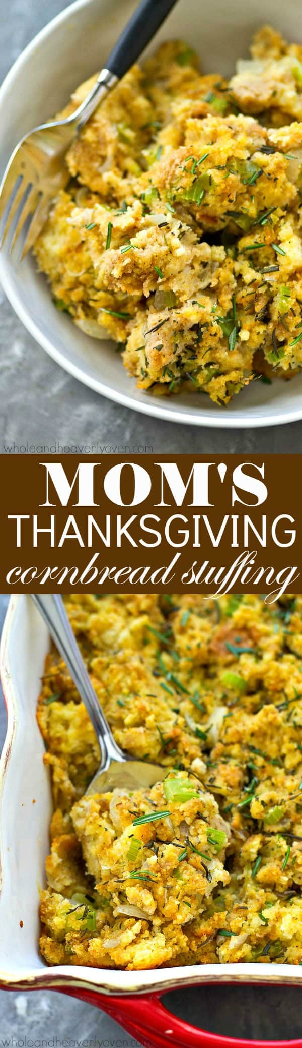 My mom's family recipe for cornbread stuffing is a quintessential side dish on our Thanksgiving table and you'll soon see why it's the best ever! It will quickly become a new holiday tradition in your family.