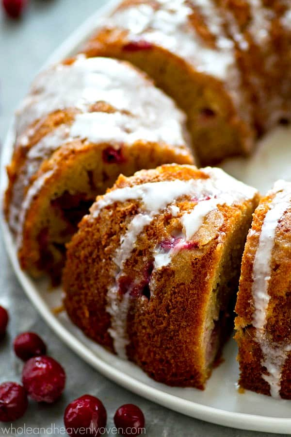 Jam-packed with cranberries, orange flavor, and tons of eggnog glaze, this stunning bundt cake is so simple to mix up for a last-minute holiday dessert and you'll be eating every last crumb!