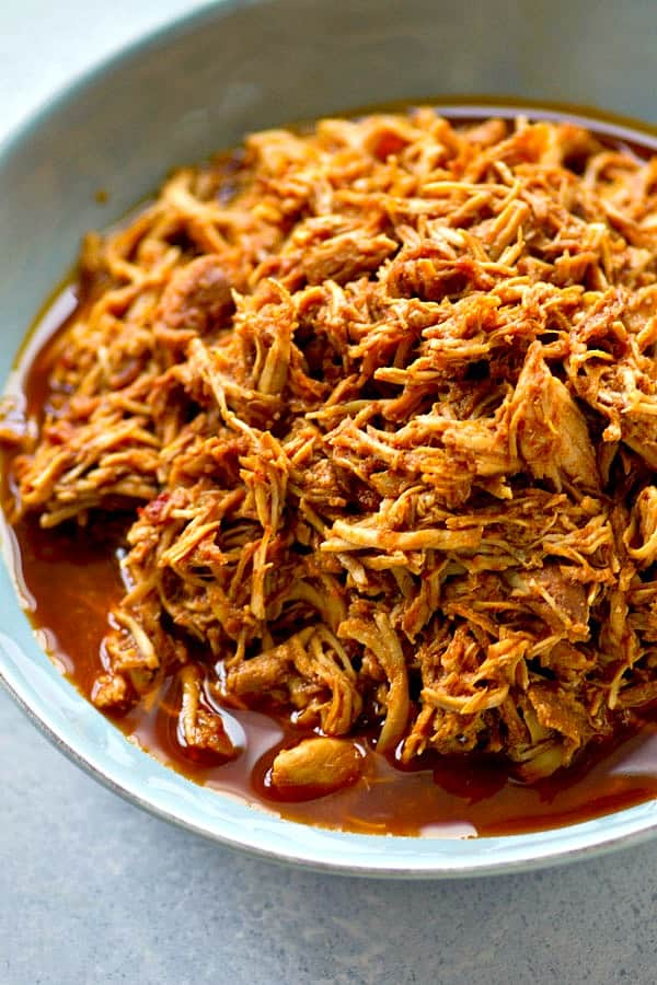 Smothered in a sweet 'n' spicy chipotle maple bbq sauce and unbelievably tender, these crockpot bbq chicken sandwiches are the ultimately easy comfort food!