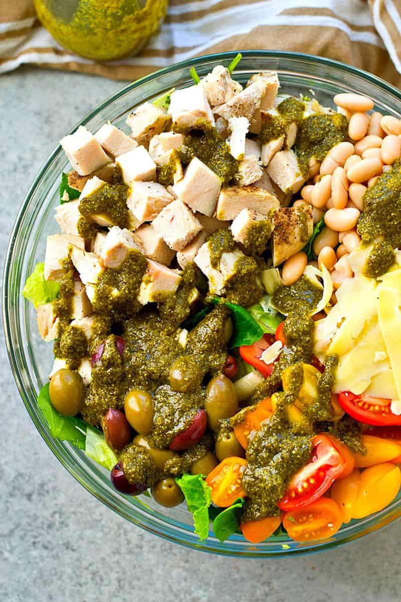 Tuscan Turkey Salad With Pesto Vinaigrette