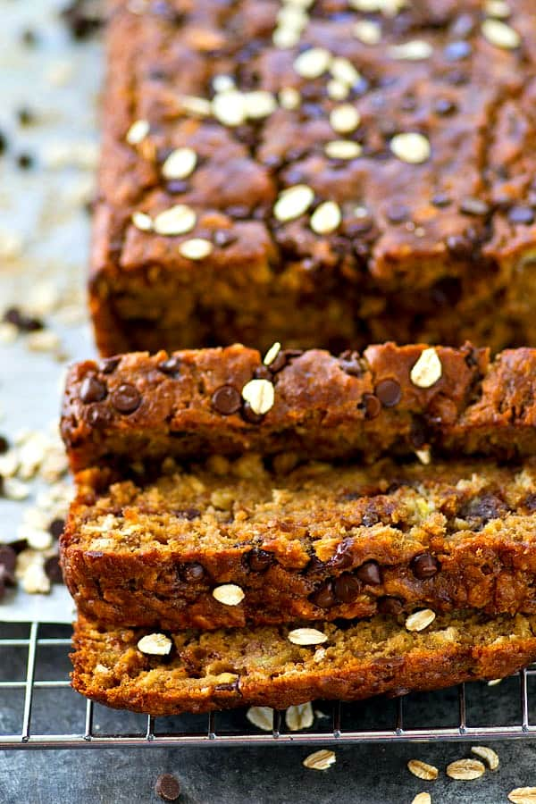 Oatmeal Chocolate Chip Cookie Banana Bread