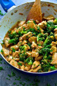 Grab one pot and a handful of simple ingredients and only 20 minutes later you'll have a skillet full of this INSANELY flavorful citrus chicken and broccoli stir-fry!
