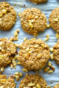 Made completely no-bake and packed with tons of banana and pecans, you're gonna want to stock your freezer all summer long with these easy breakfast cookies!