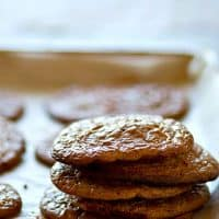 These dense, fudgy brownie cookies have that signature crackly top and they taste like brownies and cookies all piled into one decadent cookie!