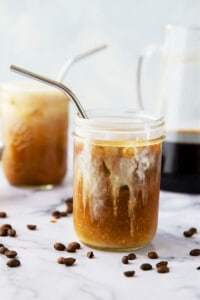 Classic coffee shop-style cold brew coffee is SO unbelievably easy to make at home you'll never go back to buying it. This overnight cold brew coffee is a keeper recipe for any coffee lover!