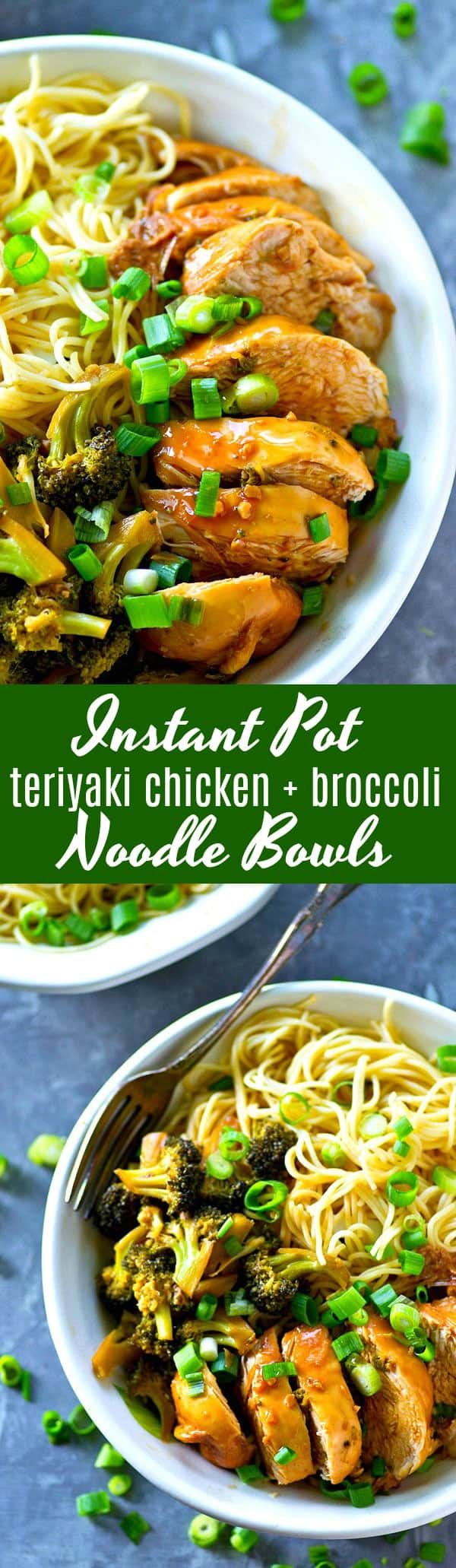 These instant pot teriyaki chicken noodle bowls were MADE for crazy dinner nights! Homemade teriyaki sauce is the secret behind what makes the chicken and broccoli so incredibly flavorful.