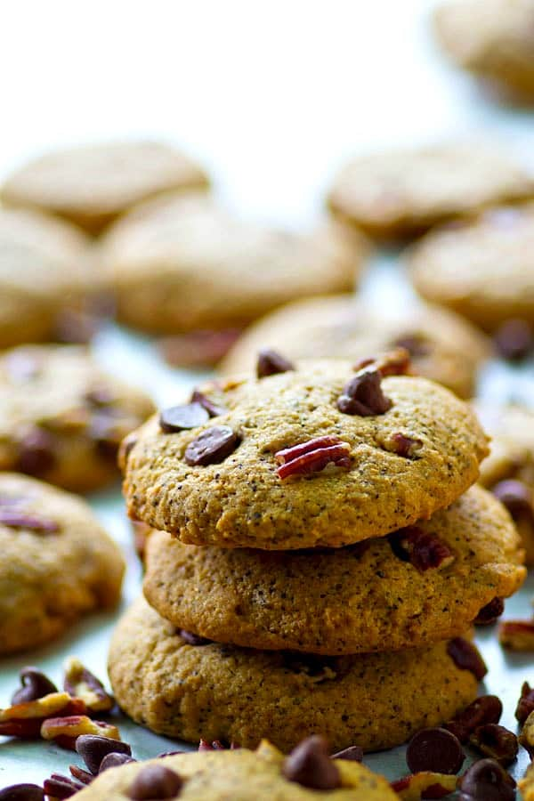 These light and crispy espresso chocolate chip cookies are heavy on the coffee flavor that works wonderful flavors with the chocolate! The perfect cookie sidekick to your coffee.