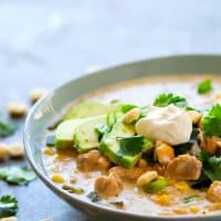 Instant Pot Poblano Turkey White Chili - Put your turkey leftovers to the BEST use in this poblano turkey white chili that's made entirely in the instant pot, super creamy, extra hearty, and kicked up with spicy poblano!