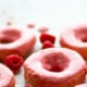 Raspberry-Glazed Lemon Sour Cream Donuts