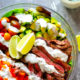 Carne Asada Steak Salad Bowls with Bleu Cheese Dressing