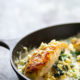 Skillet Creamy Spinach Feta Stuffed Chicken Breasts
