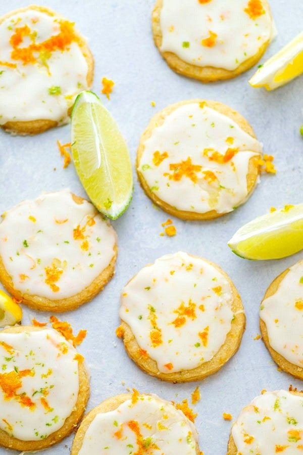 Flavorful browned butter and a punch of citrus flavor transform these browned butter shortbread cookies into a luscious springtime cookie that's a gorgeous addition to any cookie tray!