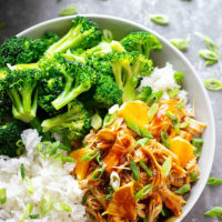 Let your instant pot make your Chinese takeout when you make this instant pot orange chicken.--- You won't be able to get enough of this saucy chicken piled high into beautiful rice bowls!