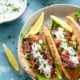 Grilled Steak Gyros with Cucumber Feta Salsa and Tzatziki Sauce