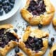 Mini Lavender Mascarpone Blueberry Galettes