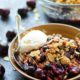 Browned Butter Almond Blueberry Cherry Crisp