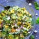 Charred Sweet Corn Avocado Cucumber Salad with Feta Mint Dressing