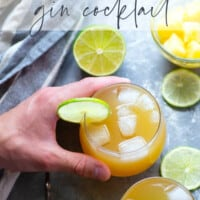 Spicy ginger, sweet pineapple juice, and tangy lime juice make for a refreshingly smooth and flavorful pineapple gin cocktail that's perfect for entertaining!