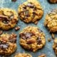 Dark Chocolate Pecan Oatmeal Cookies
