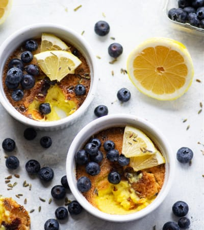 Fragrant lavender and tangy lemon transform this lavender lemon creme brulee into a luxurious date night dessert! Tips and tricks included for baking a restaurant-quality creme brulee.