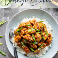 Air fryer orange chicken is lighter on the calories and SO much better than Panda Express. - Learn how to make the best orange sauce featuring real oranges and secret ingredient!