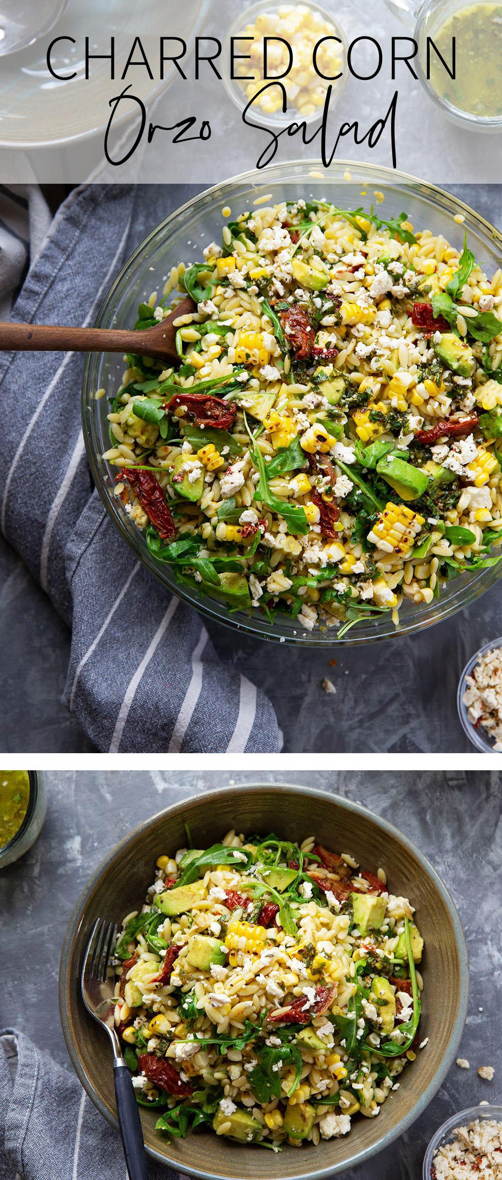 Photo collage of salad.