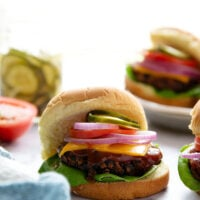 Learn how to make black bean burgers with the perfect texture in the air fryer! These air fryer black bean burgers can easily be made ahead of time and can even be frozen.