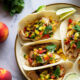 Blackened Chicken Tacos with Peach Salsa