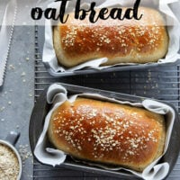 Homemade honey oat bread is easy to make at home and perfect for beginning bread bakers! - Try this hearty bread in sandwiches, toast, or warm from the oven with a drizzle of honey!